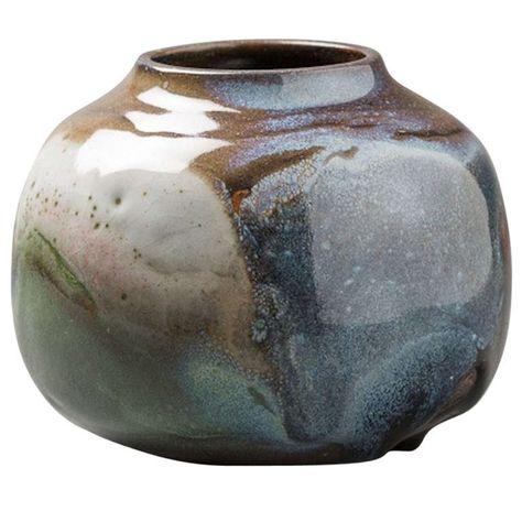 A Stoneware Vase by Rene Ben Lisa | 1stdibs.com