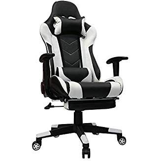 Kinsal Gaming Chair With Footrest Racing Style High Back Pu Leather Office Chair Computer Desk Chair Execu Gaming Chair Office Gaming Chair Computer Desk Chair