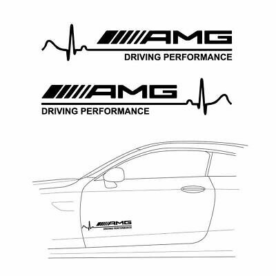 2x 12 Amg Driving Performance Sticker Decal Car Side Hood Door Body Decoration Ebay Racing Stripes Avery Vinyl Amg