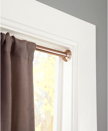 Sun Zero 3 4 Light Blocking Tension Curtain Rod 48 86 Oil