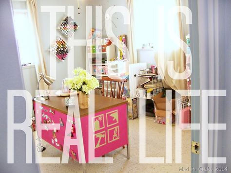 Real Life Work Room -  Mad in Crafts