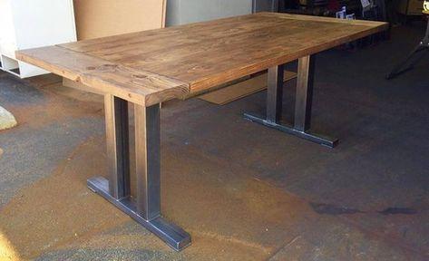 Dining Table, Reclaimed Black Walnut Table Top With Steel Legs, Salvage Black Walnut, Reclaimed Wood Table.