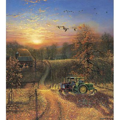 Hadley House Co Harvest Break By Dave Barnhouse Painting Print