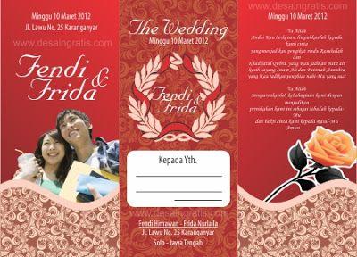 Template Undangan Pernikahan Cdr Undangan Undangan Pernikahan Pernikahan