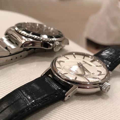 【時計】 ・ 悩み中。 ・ サブマリーナをドーム風防化しようか。。 となりのSEIKOと並べながらイメージ中。 ・ #14060 #sarb031