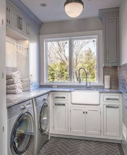 41 Ideas For Farmhouse Sink Laundry Room Faucets Farmhouse Faucets Ideas Lau 41 In 2020 Laundry Room Storage Shelves Laundry Room Design Laundry Room Storage