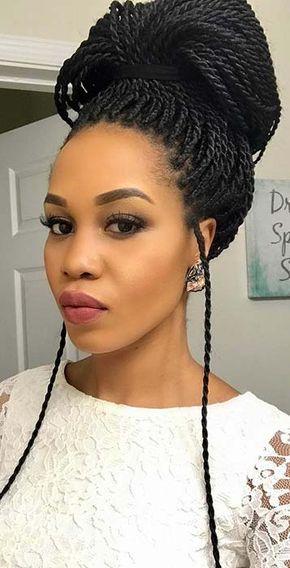 43 Eye Catching Twist Braids Hairstyles For Black Hair Page 2 Of 4 Stayglam Twist Braid Hairstyles Senegalese Twist Hairstyles Senegalese Twist Braids