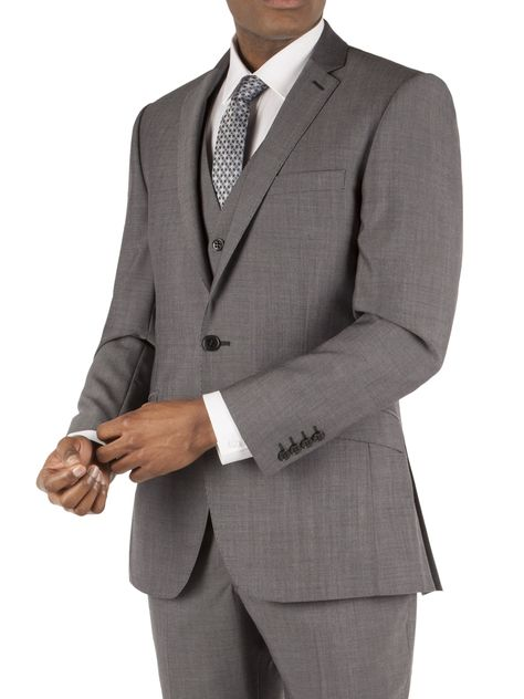 8237f6c89251 Ben Sherman Silver Grey Tonic Slim Fit Three Piece Suit | Business ...