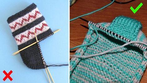 Kreativní nápad na krásné ponožky pletené na dvou jehlicích – nejjednodušší  způsob pletení na světe! 4177fb01c1