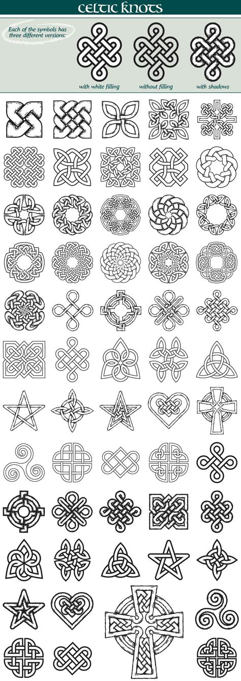 Celtic Knots Symbols by iz on Celtic Quilt, Celtic Knot Tattoo, Celtic Knots, Celtic Tattoo Symbols, Irish Celtic Tattoos, Gaelic Tattoo, Zentangle Patterns, Embroidery Patterns, Arts And Crafts