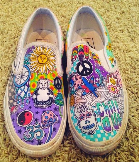 Customized Vans! by linmindesigns on Etsy https://www.etsy.com/listing/200498878/customized-vans