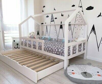 Hausbett Kinderhaus 90x200 Weiss Sicherheitsbarrieren Matratzenschublade Ebay In 2020 Kinder Bett Haus Hausbett Kinderbett