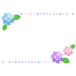 花 Gahag 著作権フリー写真 イラスト素材集 紫陽花 イラスト あじさい イラスト 便箋 テンプレート