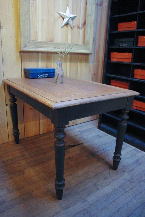 Tables Consoles Bureaux Par Le Marchand D Oublis Renover Table En Bois Mobilier De Salon Vieille Table En Bois