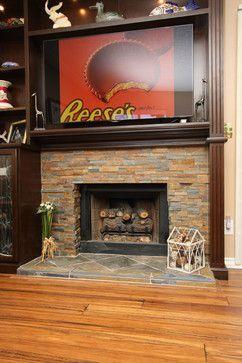 Chocolate Brown Custom Surround And Storage Display Wall. Bamboo Glass