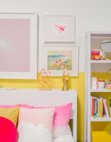 Pin On 2 Fast Yellow pink bedroom ideas