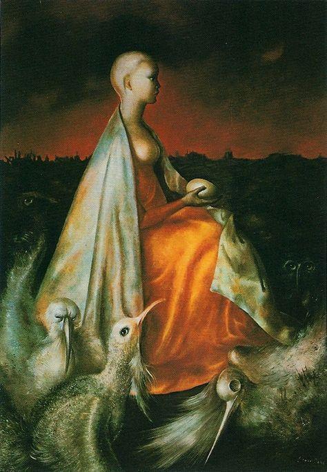 La toilette inutile, 1964 by Leonor Fini. Magic Realism, Surrealism. portrait | Art, Modern art, Surrealist
