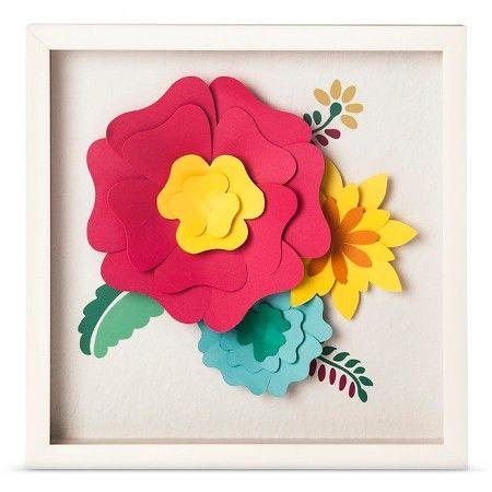 3d Flowers Framed Art 14 5 X14 5 Pillowfort Target Flower Wall Art Pillow Fort Floral Wall Art