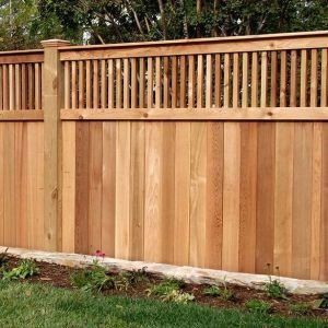 How Much To Install Wood Fence 1000 Wood Fence Installation Outdoor Wood Projects Cedar Fence
