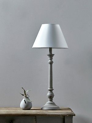 Tall Turned Bedside Lamp In 2020 Bedside Table Lamps Modern