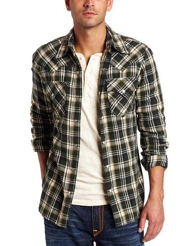 a9a76fa28 True Religion Long Sleeve Rocky Plaid Western Shirt