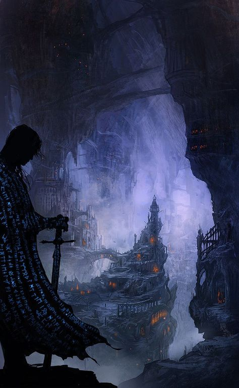 Dark Elf / Drow  Menzoberranzan the City of Spiders The Drow a subterranean race of Elves live deep within the earth in the legendary Underdark - Their greatest city is known as Menzoberranzan or the City of Spiders, in Common