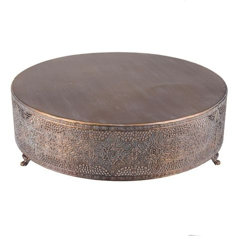 Pierced Metal Vintage Style Cake Stand/Riser ~ 3 Sizes