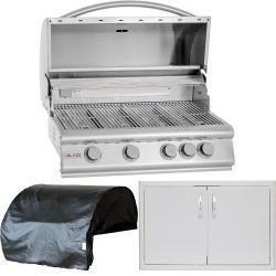 Built In Gas Grills Drop In Gas Grill Inserts Bbq Guys Outdoor Kitchen Outdoor Kitchen Design Outdoor Kitchen Appliances