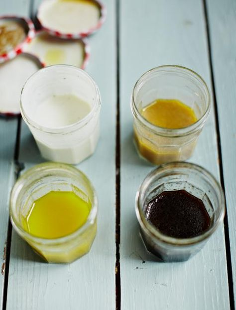 Good Basic Salad Dressings - Quick and Easy to make and best of all tasty....  Jamie Oliver