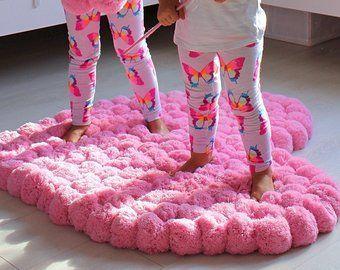 Bedroom Rug Soft Pom For