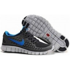 Nike Free Run Womens Black Grey Blue