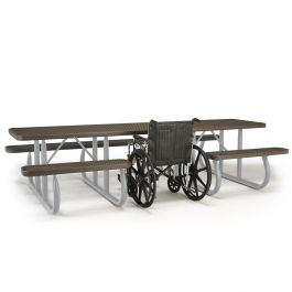 Square Expanded Steel Table Portable Frame 1399 In 2020 Steel Table Table Picnic Table