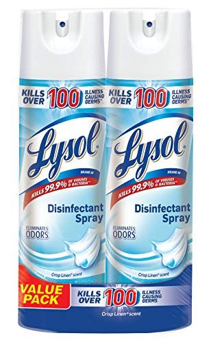 Lysol Disinfectant Spray Crisp Linen 38oz 2x19oz In 2020