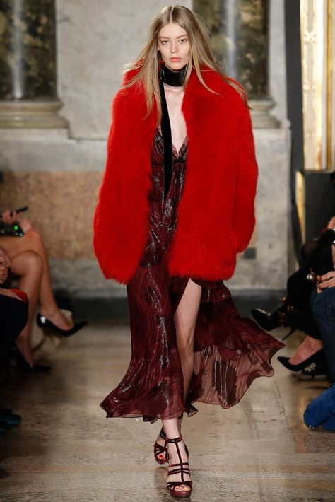 Italian fashion house Emilio Pucci presented their new fall/winter 2015 collection at Milan fashion week fall Anja Rubik Natasha Poly Joan Smalls Hilary