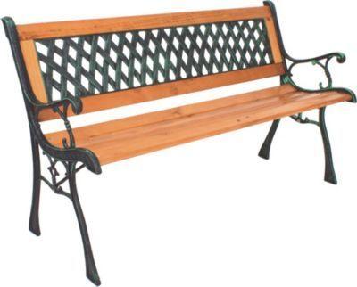 Garden Pleasure Parkbank Windsor Metall Holz Garten Bank Sitzbank