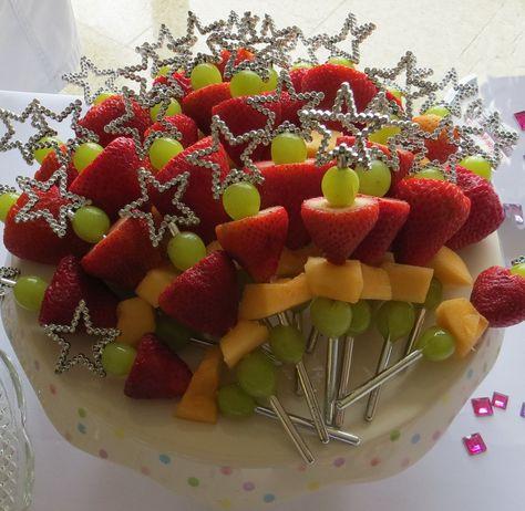 Magic Fruit Wands served at Princess Skyler's 4th Birthday party