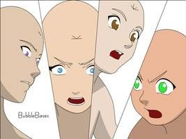 Group Face Base By Bubblebases Anime Male Face Anime Group Base Male Face Drawing