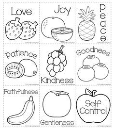 Fruits of the Spirit Coloring Page | Sunday school, Bible and Churches