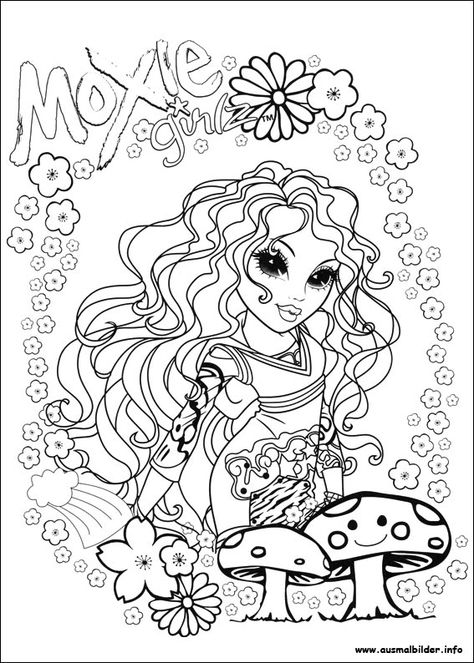 moxie girlz malvorlagen  coloring pages coloring books