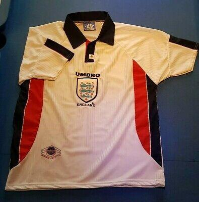England 1998 World Cup Football Shirt France 98 Umbro Large Fashion Sports Memorabilia Footballshirts Nationalteams Ebay Link In 2020