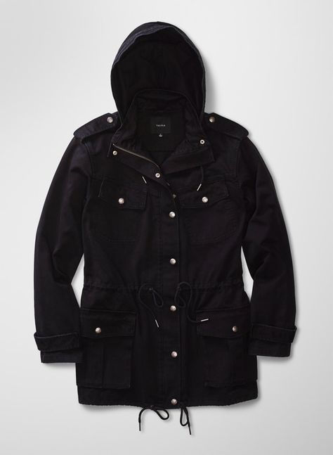 BELTED JACKET WITH SCUBA HOOD