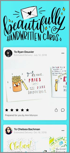 Birthday Cards Mailed Inspirational Punkpost Handwritten Cards On
