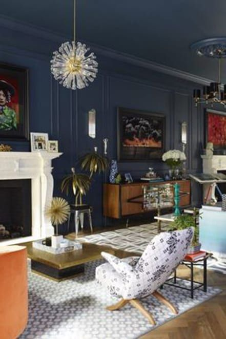 Paint Your Walls Trim Even Your Ceiling The Same Color Seriously Dark Blue Walls Blue Ceilings Navy Blue Walls
