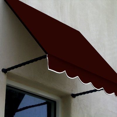 Awntech Santa Fe Fabric Standard Window Awning In 2020 Window Awnings Windows Burgundy