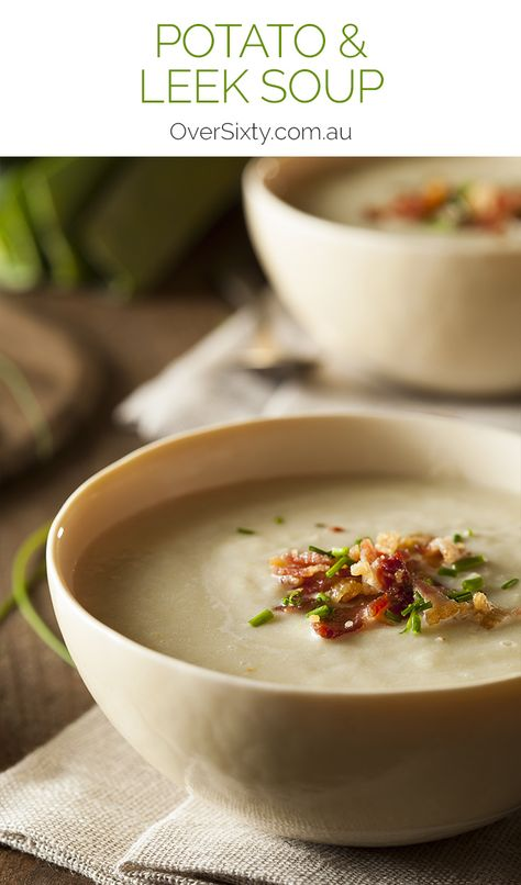 Potato & Leek Soup Recipe - this hearty soup is a traditional Welsh classic. It's just perfect for those cooler nights in autumn and winter. Make a big batch and enjoy it for days with warm, crusty bread.