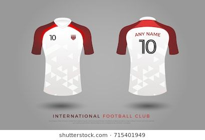 Download Soccer T Shirt Design Uniform Set Of Soccer Kit Football Jersey Template For Football Club Red And White Soccer Tshirt Designs Soccer Tshirts Tshirt Designs