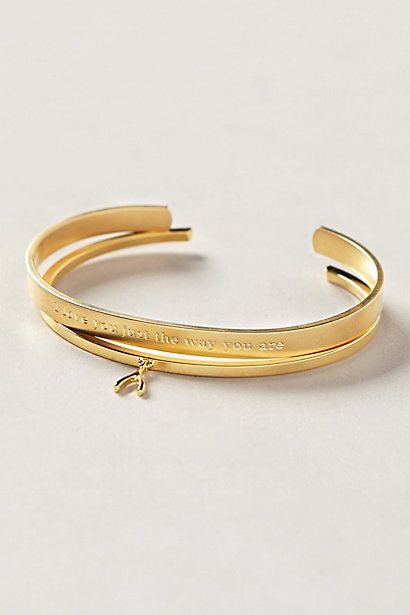 """I love you just the way you are"" bracelet #anthrofave"