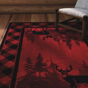 Perfect Rustic Area Rug For Your Log Cabin I Love The Scene