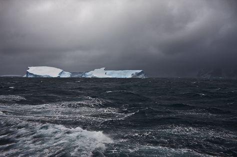 Icebergs Colliding Near Elephant Island, Southern Ocean, February 1, 2010.