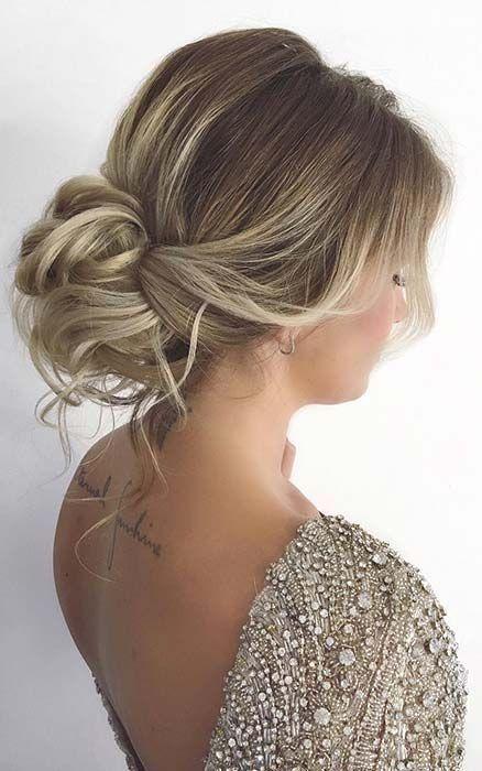 63 Stunning Prom Hair Ideas For 2020 Pretty Low Bun Updo Stunning Prom Hair Ball Hairstyles Hair Styles Bun Hairstyles